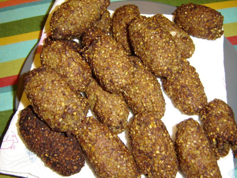 Falafel,kibbeh perogies 015